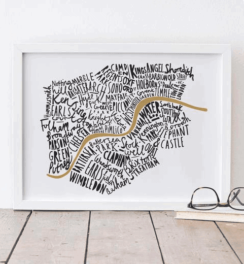 London Typography Print: Gorgeous Gifts For People Who Love London!