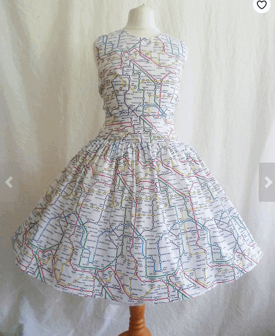 London Tube Print Dress: Gorgeous Gifts For People Who Love London!