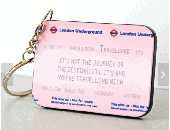 Personalised Underground Keychain: Gorgeous Gifts For People Who Love London!