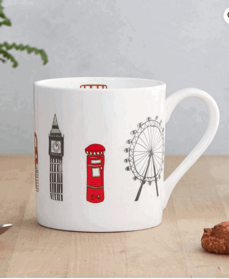 Handprinted Mug: Gorgeous Gifts For People Who Love London!