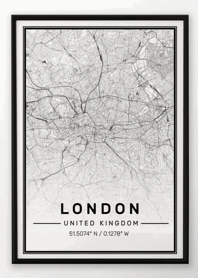 London Map Print: Gorgeous Gifts For People Who Love London!