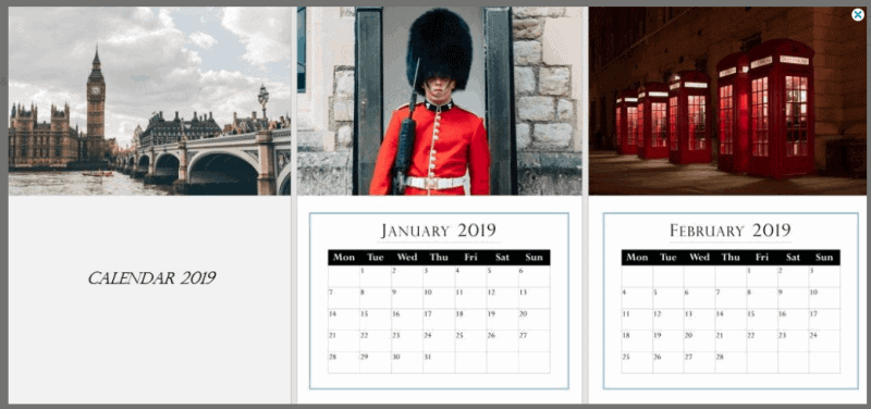 Calendar: Gorgeous Gifts For People Who Love London!
