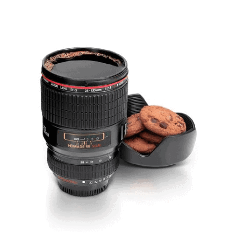 Camera Lens Mug - Awesome Gift Ideas For Photographers (At All Levels & For All Budgets!)