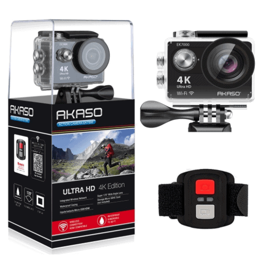 AKASO Action Camera & Camcorder - Awesome Gift Ideas For Photographers (At All Levels & For All Budgets!)