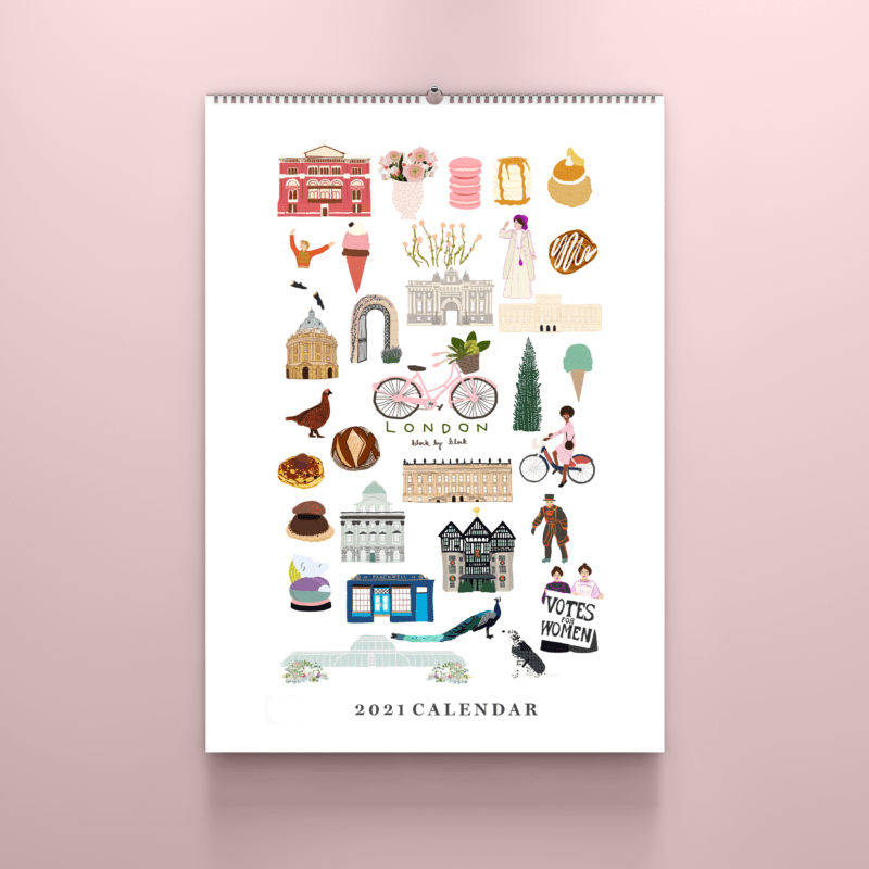 32 London Themed Gift Ideas (Picture of a London calendar)