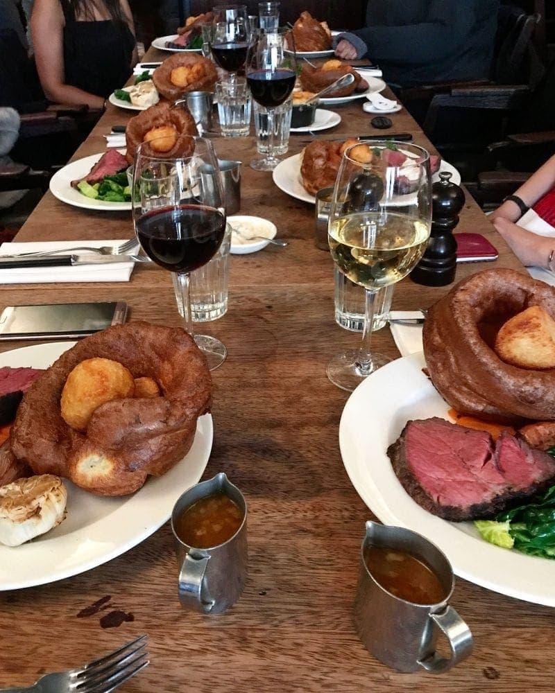 Sunday Roast at Hawksmoor - 20 London Foods You Must Eat in 2018