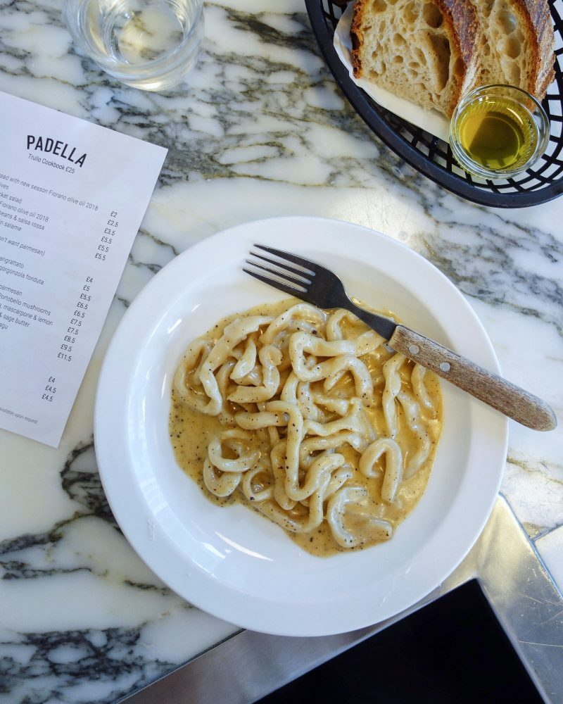 London's Best Pasta Restaurants (Image of pasta from Padella Pasta)