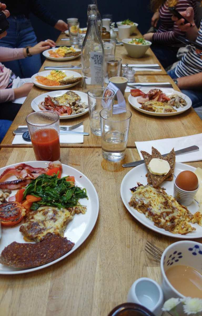 Best Breakfast & Brunch In West London (Image of breakfast at Snaps & Rye Notting Hill)