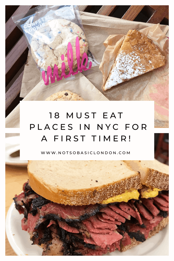 18 Must Eat Places in NYC For A First Timer!