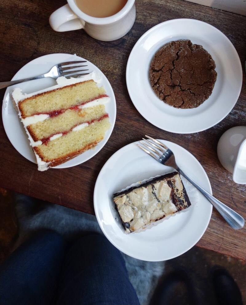 Best Places to Eat in London for First Time Visitors (Image of cake at Violet Bakery)