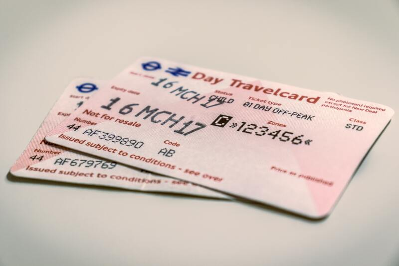 London On A Budget | Great Money Saving Tips (Picture of London travel ticket)