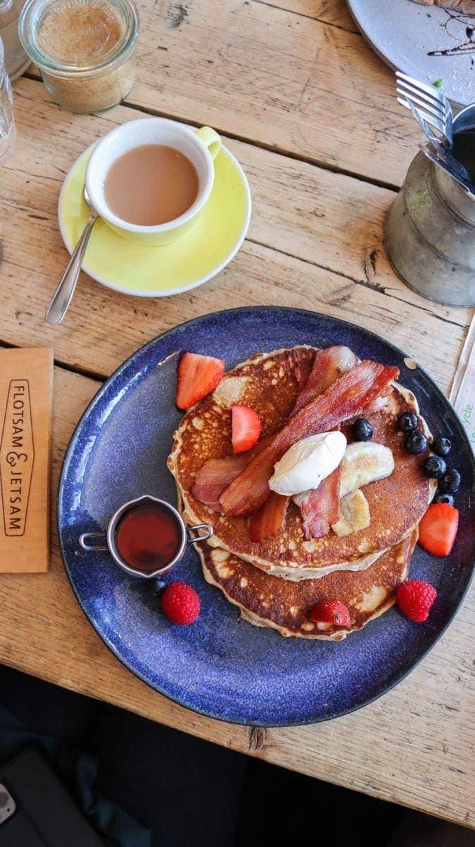 Best Breakfast & Brunch in South London (Image of pancakes from Flotsam & Jetsam)