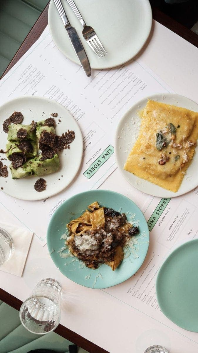 London's Best Pasta Restaurants (Image of pasta from Lina Stores)