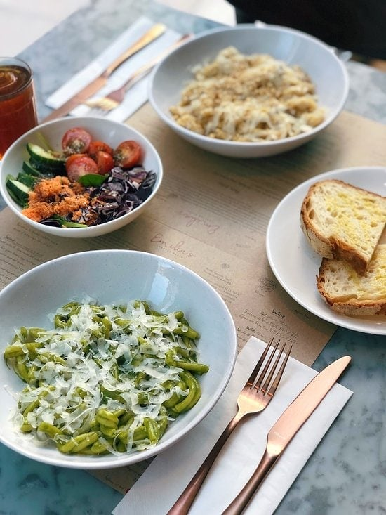London's Best Pasta Restaurants (Image of pasta from Via Emilia)
