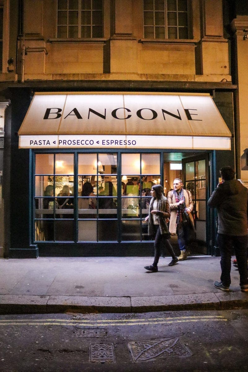 London's Best Pasta Restaurants (Image of Bancone Restaurant)