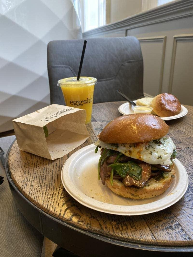 Best Breakfast & Brunch In West London (Image of breakfast from Eggslut)