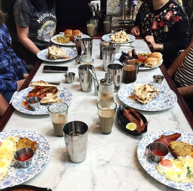 Best Breakfast & Brunch in North London (Image of breakfast at Dishoom)