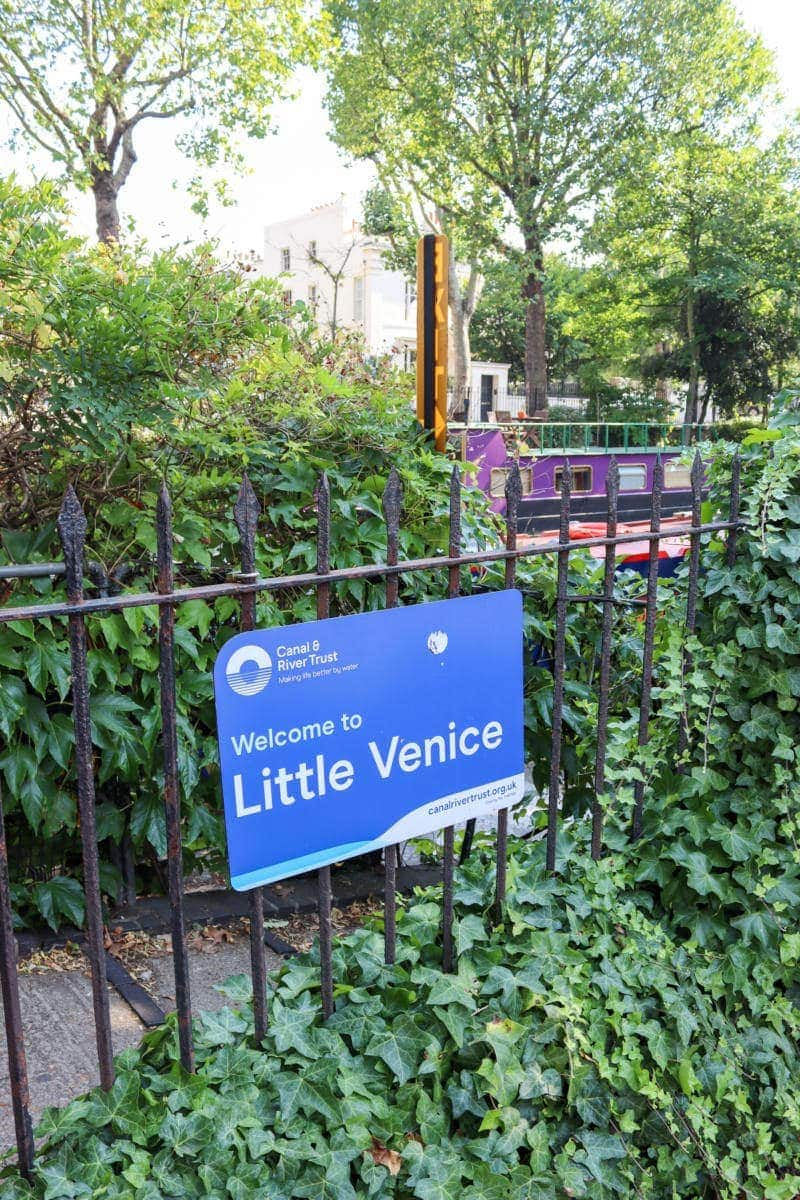 Self Guided London Walking Tour Of Regent's Canal (Image of Little Venice sign)