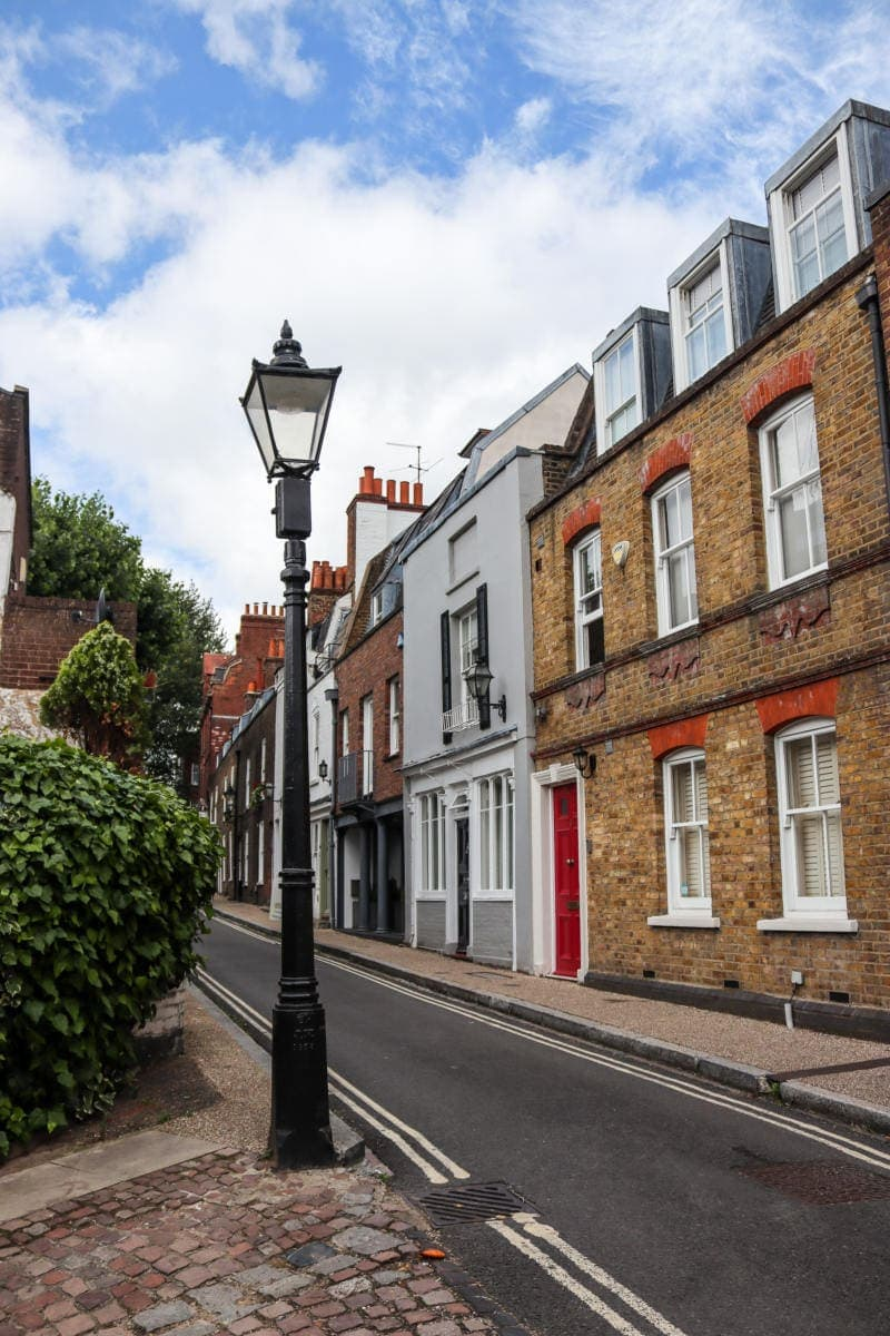 Self Guided London Walking Tour Of Hampstead (Image of a pretty street in Hampstead)