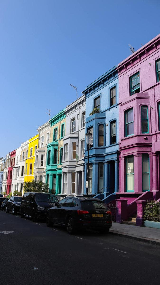 Pretty Colourful Houses, Notting Hill - London Walking Tour: Notting Hill