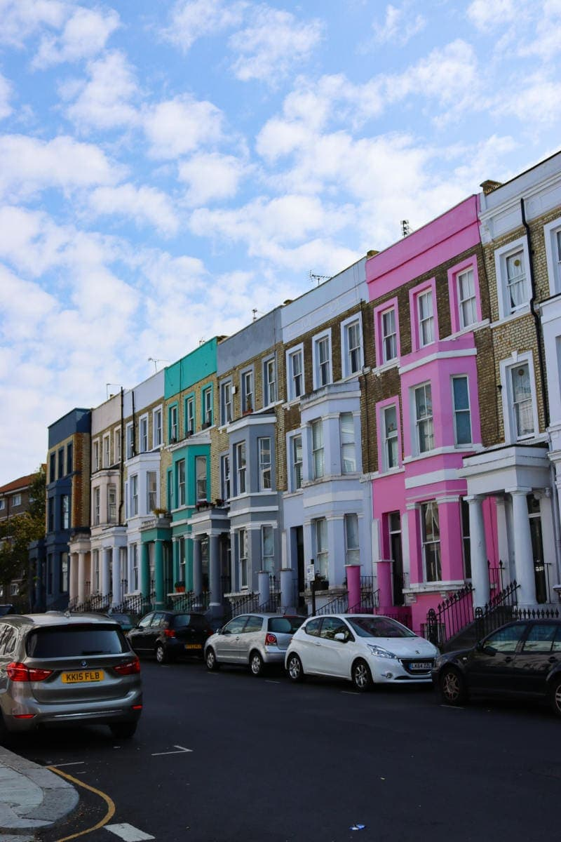 Pretty Colourful Street Notting Hill - London Walking Tour: Notting Hill