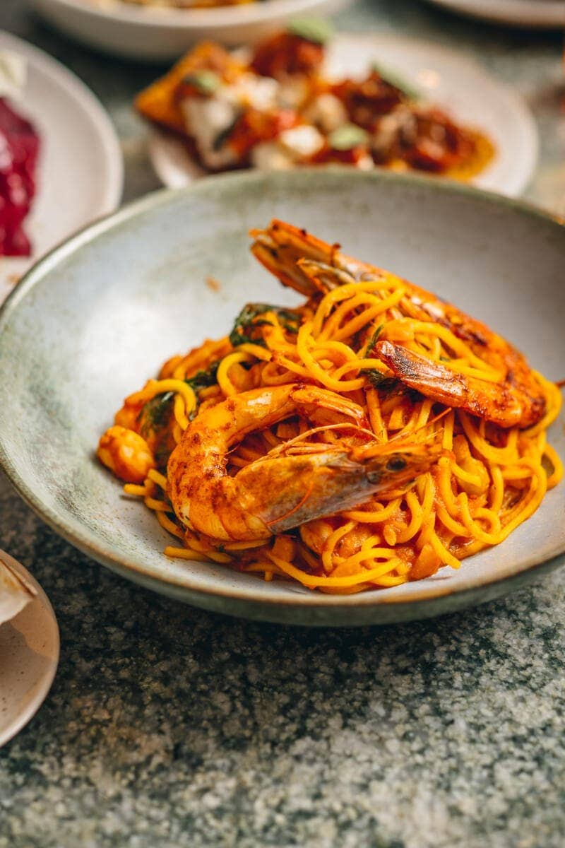 Norma Valentine's Feasting Box - Fresh Pasta with Sicilian red prawns, chilli, tomato and fennel