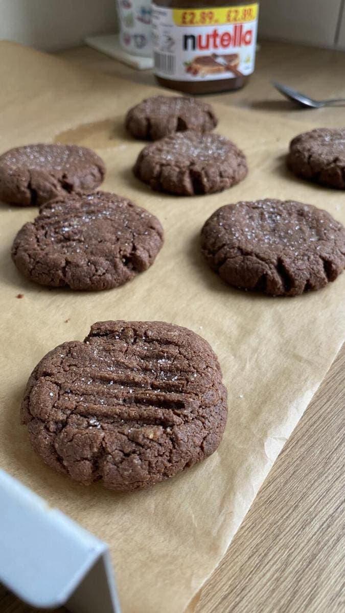 3 Ingredient Nutella Cookies