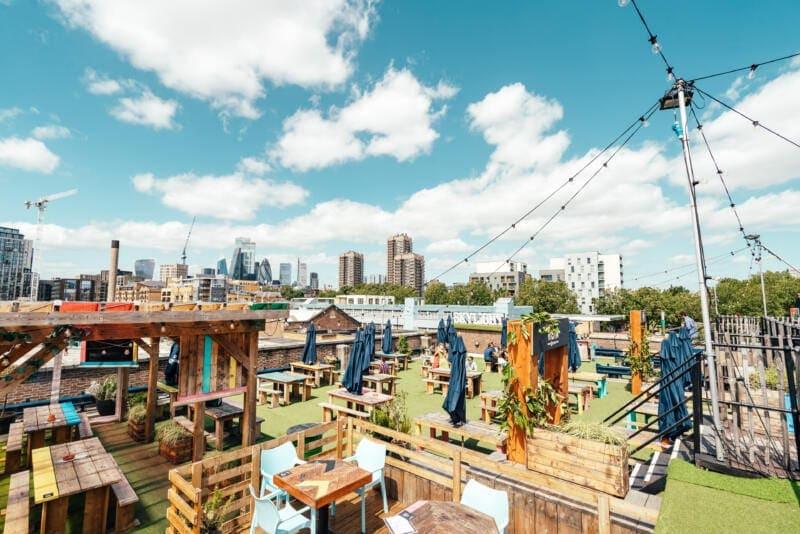 London's Best Rooftop & Outdoor Bars (Image of Skylight rooftop bar)