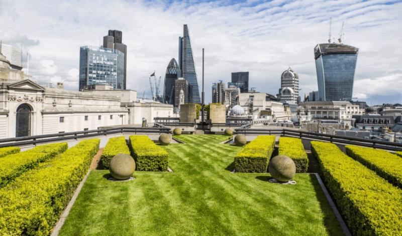 London's Best Rooftop & Outdoor Bars (Image of Coq D'Argent rooftop)