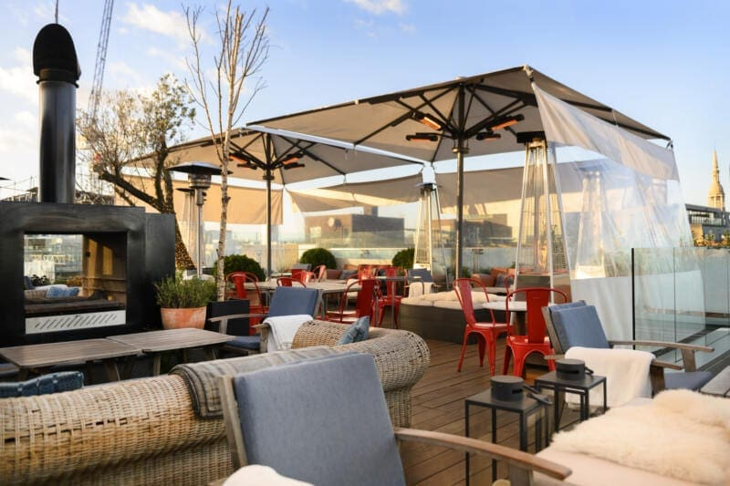 London's Best Rooftop & Outdoor Bars (Image of The Boundary Rooftop)