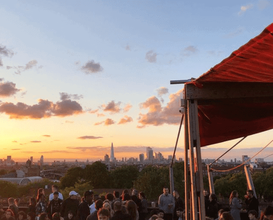 London's Best Rooftop & Outdoor Bars (Image if Frank's Rooftop Bar)