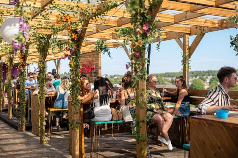 London's Best Rooftop & Outdoor Bars (Image of Bussey Bar)