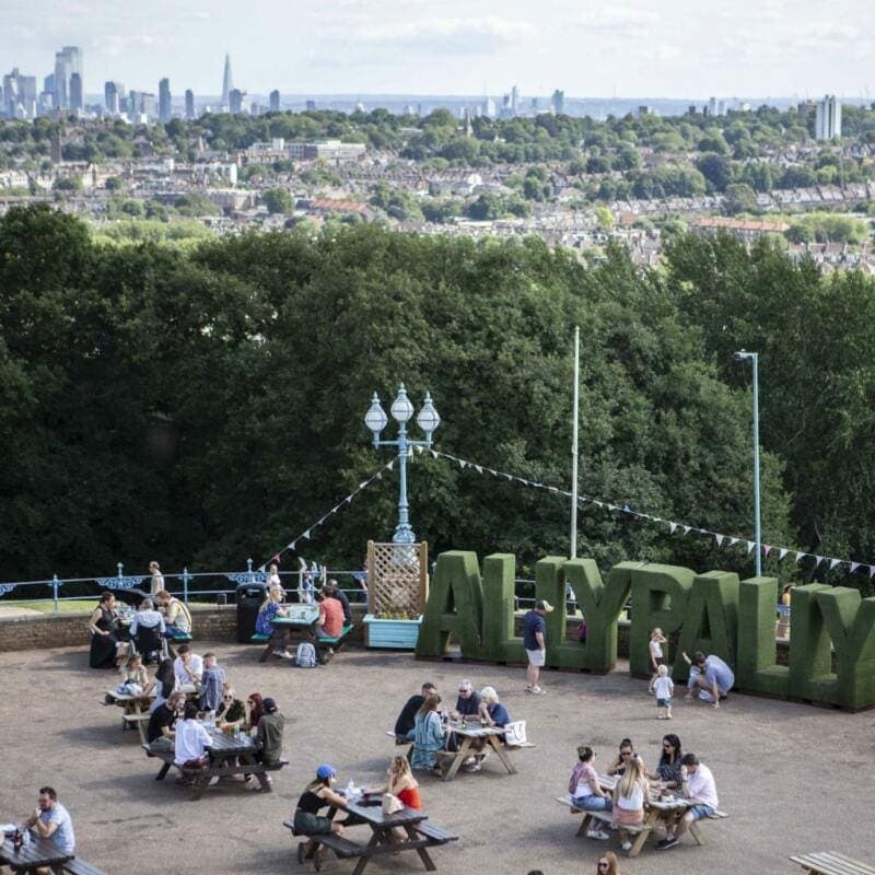 London's Best Rooftop & Outdoor Bars (Image of The Terrace, Alexandra Palace)