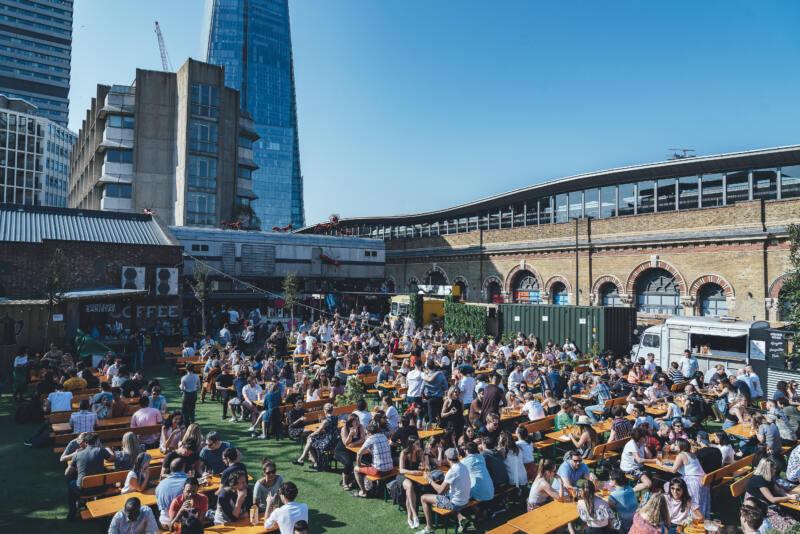 London's Best Rooftop & Outdoor Bars (Image of Vinegar Yard)