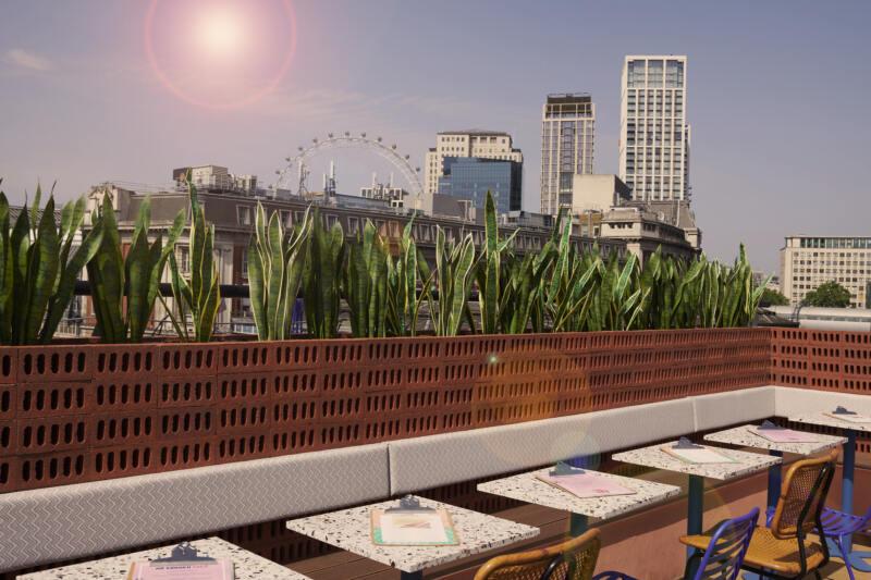London's Best Rooftop & Outdoor Bars (Image of Bar Elba)
