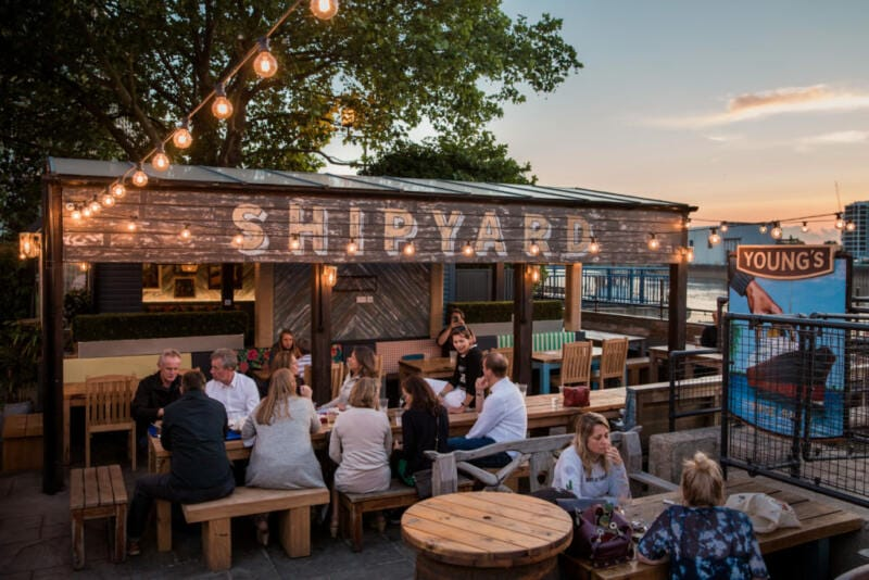London's Best Rooftop & Outdoor Bars (Image of The Ship, Wandsworth)