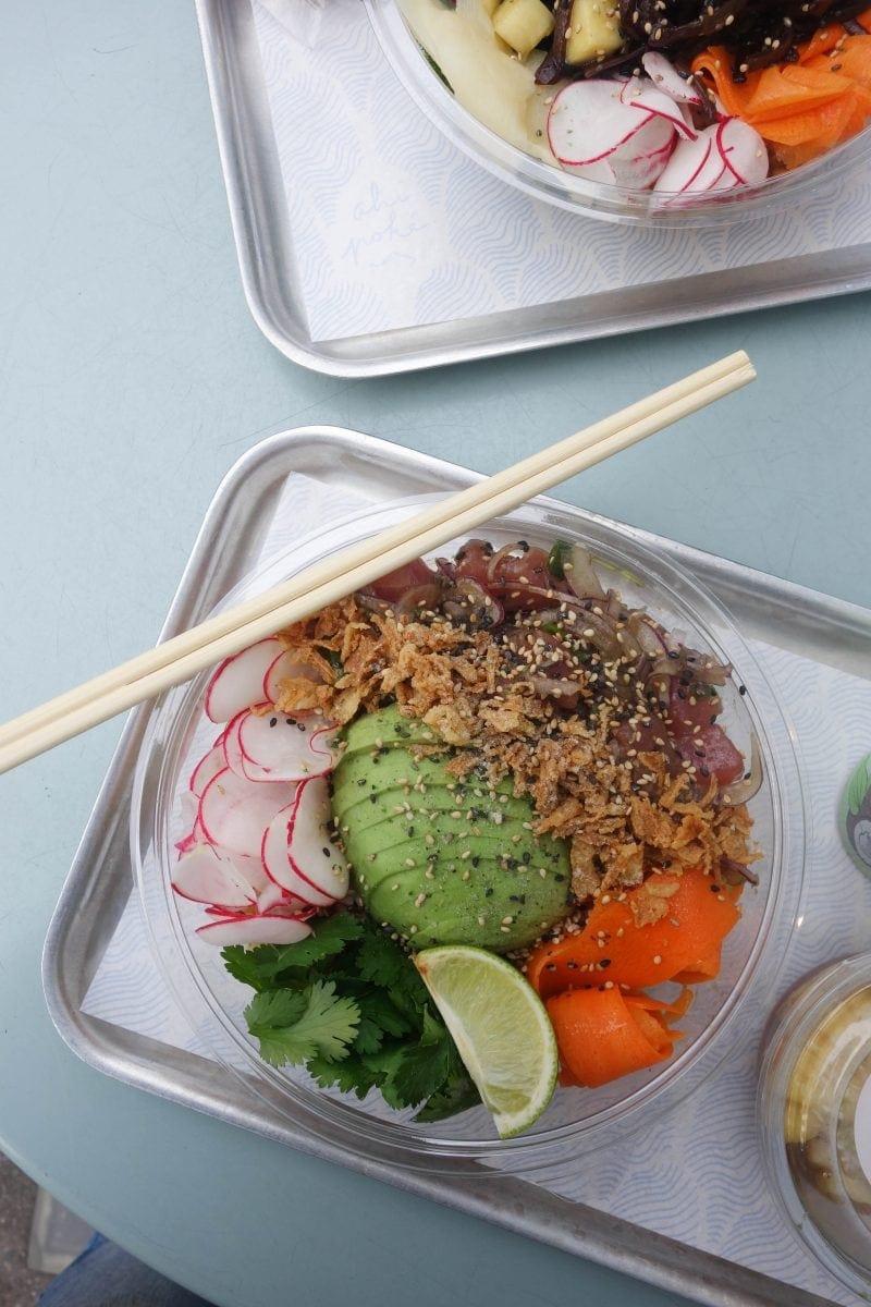 London's Best Restaurants To Dine Alone (Image of poke at Ahi Poke)