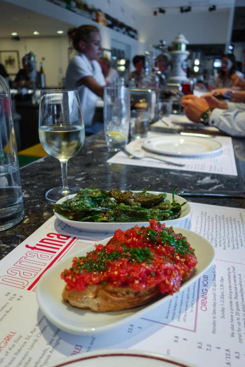 Best Places to Eat in London for First Time Visitors (Image of dishes at Barrafina)