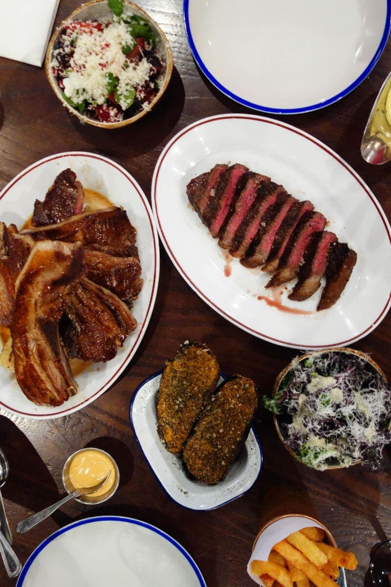 Best Places to Eat in London for First Time Visitors (Image of dinner at Blacklock)