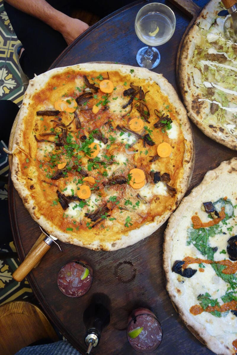 Best Places to Eat in London for First Time Visitors (Image of Homeslice Pizza)