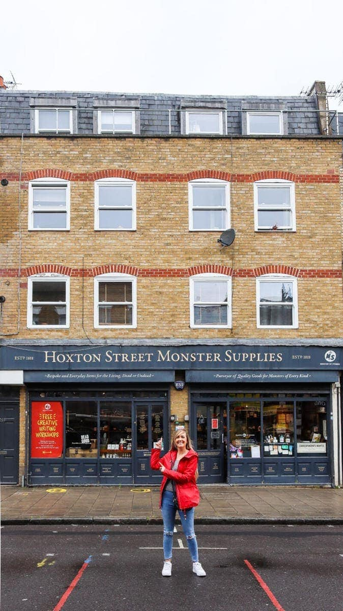 100 Hidden Gems To Discover in London (Image of Hoxton Street Monster Supplies)