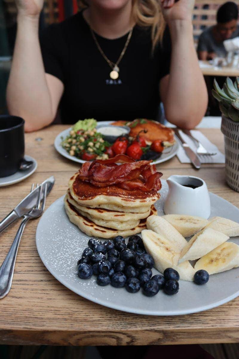 Best Places to Eat in London for First Time Visitors (Image of pancakes at Where The Pancakes Are)