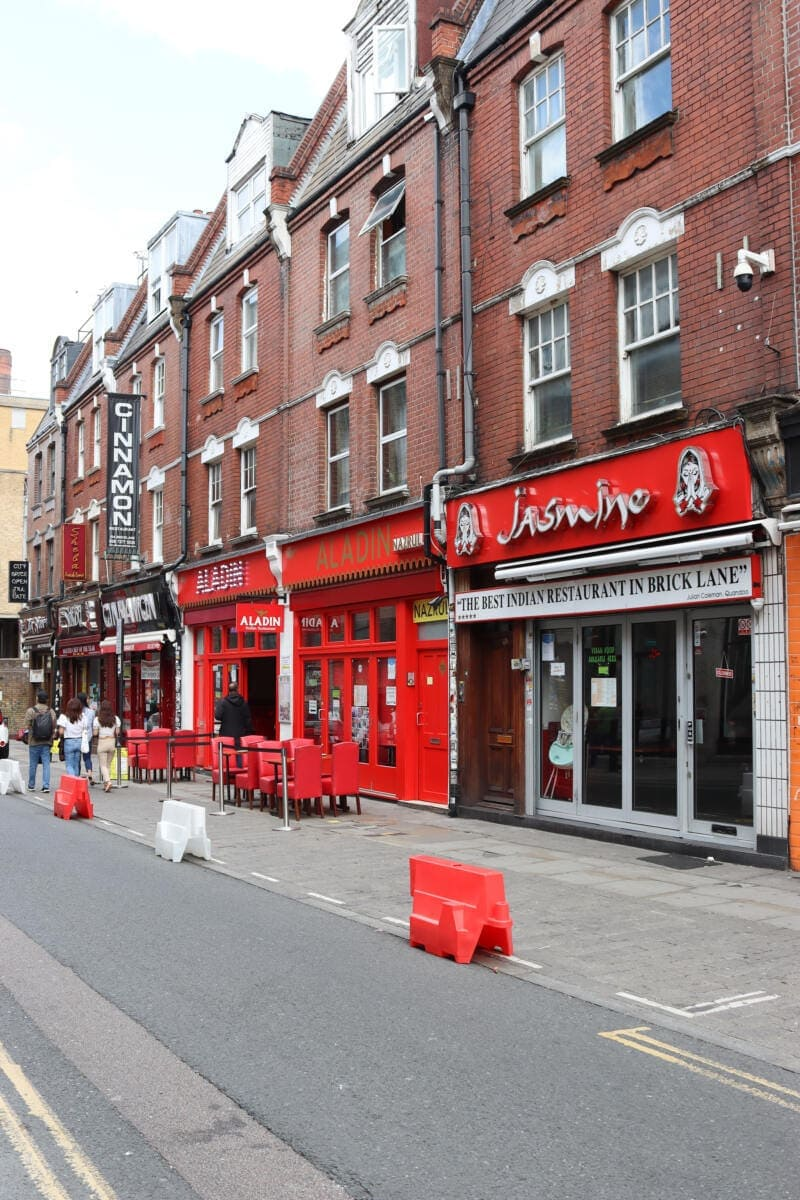 Best Places to Eat in London for First Time Visitors (Image of Aladdin Indian restaurant)