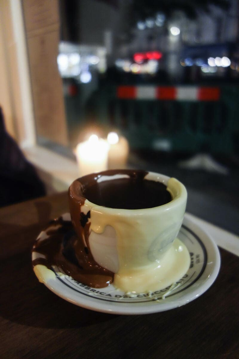 Best Places to Eat in London for First Time Visitors (Image of hot chocolate at SAID Dal)