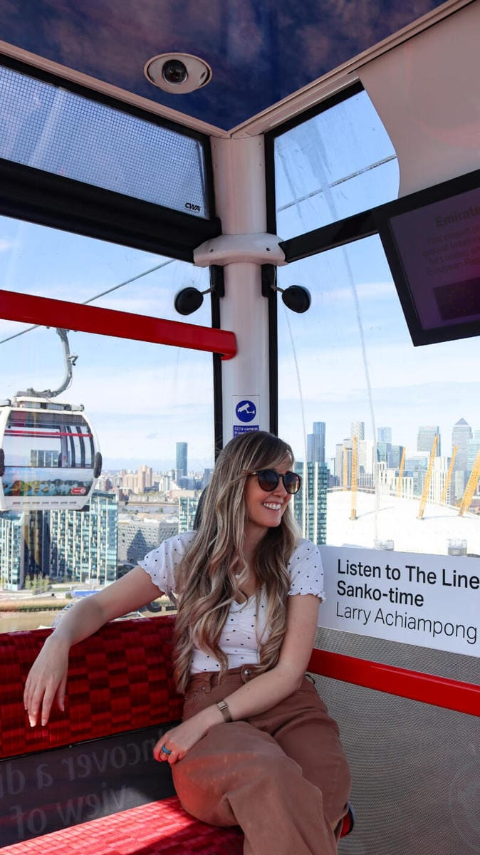 50 Fun Things To Do With Kids In London (Image of the Emirates Cable Car)