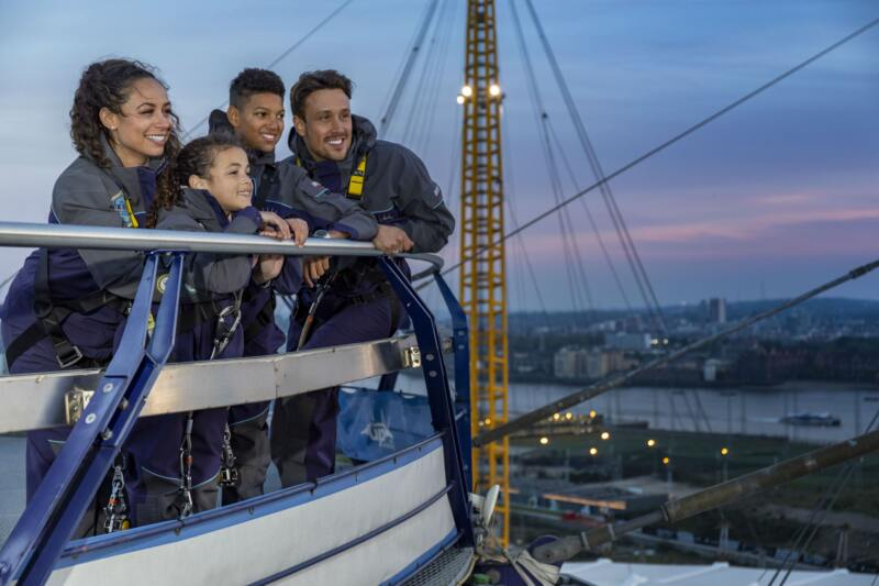 50 Fun Things To Do With Kids In London (Image of up at the o2)